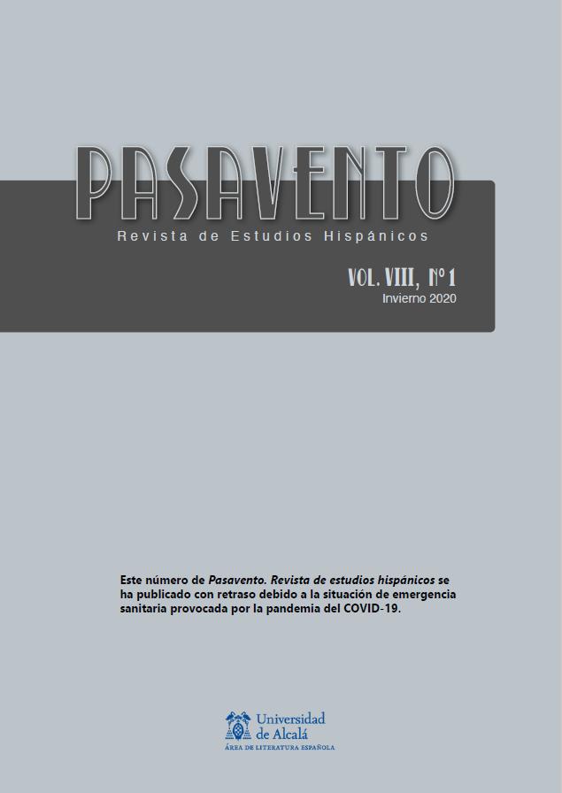 Ver Vol. 8 Núm. 1 (2020): Teoría y transversalidad en el ámbito hispánico