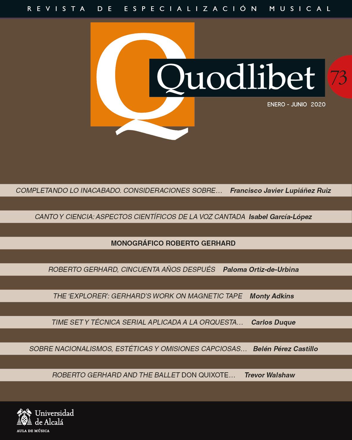 Ver Núm. 73 (2020): Quodlibet n.º 73