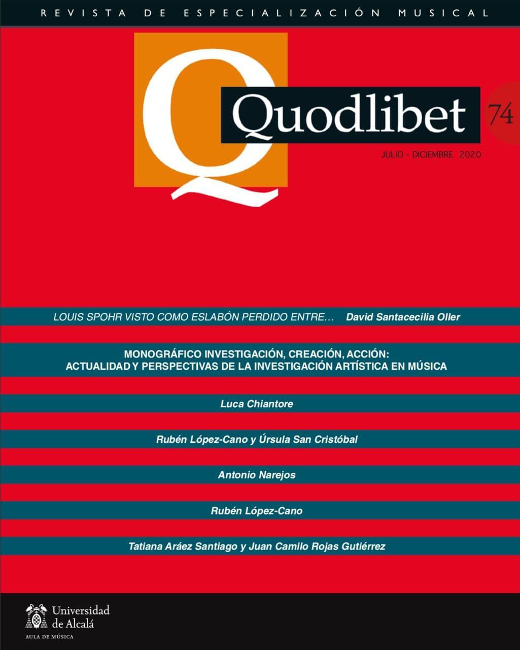 Ver Núm. 74 (2020): Quodlibet n.º 74